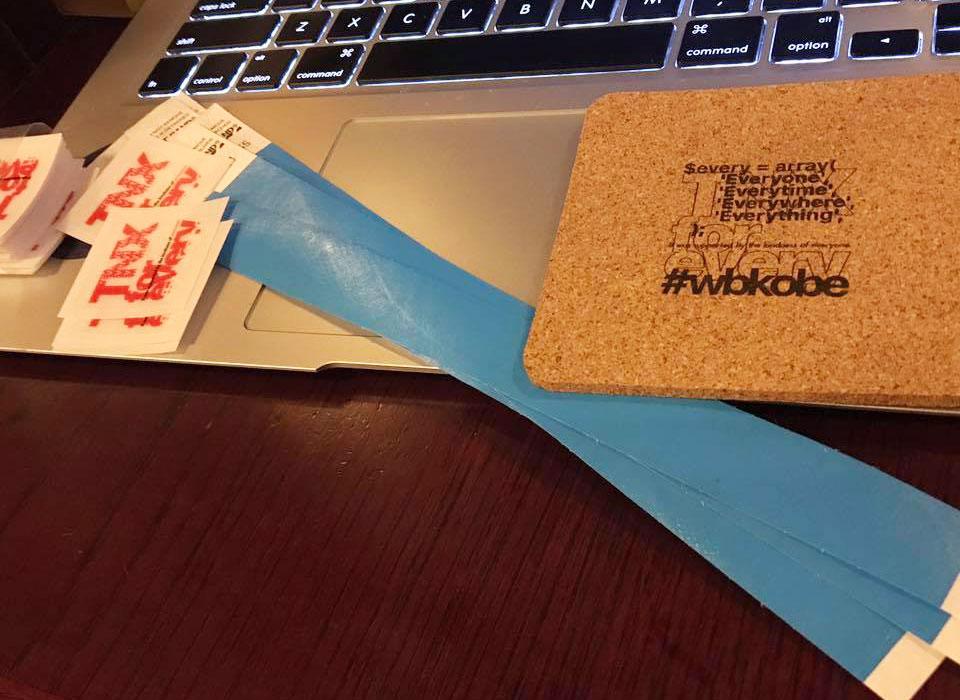 写真:第100回 WordBench神戸のノベルティ
